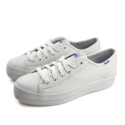 Keds TRIPLE KICK LTHR 休閒鞋 厚底 皮質 白色 女鞋 9173W132224 no301