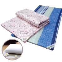 Victoria 單人天然乳膠床墊-4公分(花色隨機出貨)+基本型天然乳膠枕(1顆)