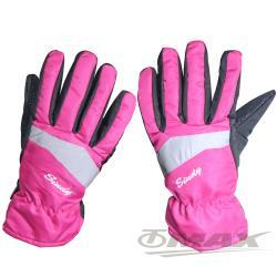 OMAX防風防水止滑手套-女款-桃紅色