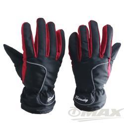 OMAX防風防水止滑手套-男款-紅色