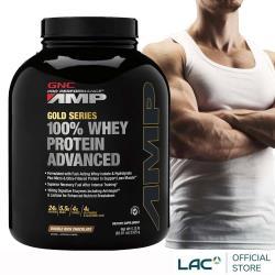GNC健安喜 AMP 極速飲品-香草/巧克力口味 5磅(乳清蛋白/消化酵素/BCAA)