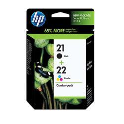 HP NO.21+NO.22 墨水匣組合包CC630AA(黑色+彩色)