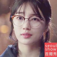 seoul show首爾秀 當你沉睡時裴秀智無度數裝飾平光眼鏡 6752豹紋金框