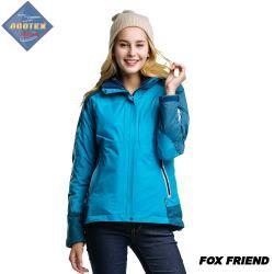 【FOXFRIEND 狐友】女款配色 二合一超輕防水外套(364)