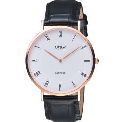 STAR 羅馬極簡時尚腕錶(7T1902-441RG-WD)41mm