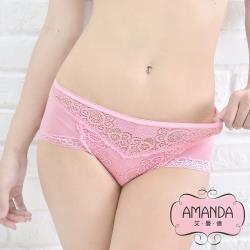 AMANDA艾曼達 台灣製 科技仿絲織棉舒蕾絲內褲 單件