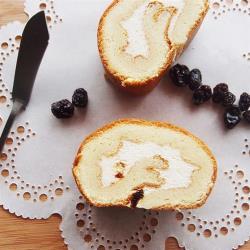[樂米工坊]瑞士捲米蛋糕-楓糖葡萄x2條(462g/條)