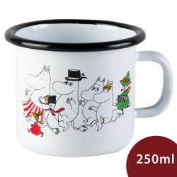 Muurla 嚕嚕米馬克杯 歡樂出遊 白色 250ml
