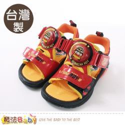 魔法Baby 男童涼鞋 台灣製POLI正版羅伊款閃燈運動鞋 魔法Baby~sa91122