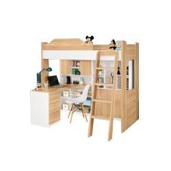 H&D 卡爾書桌5.1尺挑高床組