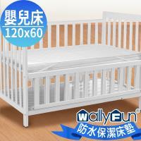WallyFun 嬰兒床用100%防水保潔墊 -平單式(120x60cm) ~台灣製造