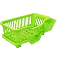 月陽 大容量三件排水式碗盤收納瀝水架餐具架筷籠