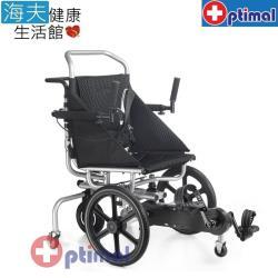 【海夫健康生活館】Optimal Medical 復健型 腳踏 避震 輪椅(OP-AW316)