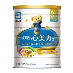 亞培 心美力3號 幼兒營養成長配方(新升級)(1700gx3罐)+(贈品)益智拼裝積木