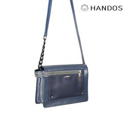 HANDOS - Pocket 串鍊真皮肩背包