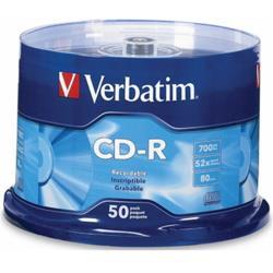 威寶 藍鳳凰 52X CD-R 白金片 桶裝 (100片)
