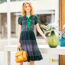 MONS法式浪漫層次雪紡洋裝