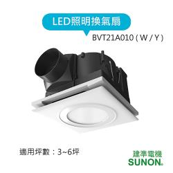 SUNON建準 LED照明換氣扇 BVT21A010(白光/黃光)