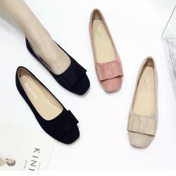 Alice (預購) 復古風情蝴蝶結平底鞋