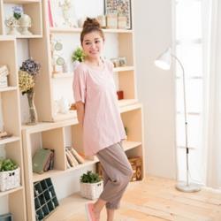 【JimmyWang】居家超值棉質彈性寬鬆上衣三件組(網)