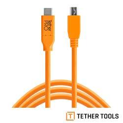 Tether Tools CUC2415-ORG Pro 傳輸線USB-C TO 2.0 MINI-B  5 Pin-公司貨