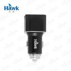 Hawk 雙USB電壓顯示車用充電器(01-AVT312)