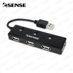 Esense U4 迷你4-PORT USB2.0 HUB集線器(01-GPH366)