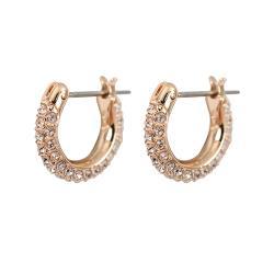 SWAROVSKI 施華洛世奇 Stone璀璨水晶半圓造玫瑰金穿針式耳環 5446008
