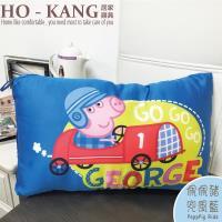 【HO KANG】正版授權 天絲可水洗童枕 -佩佩豬-兜風-藍