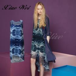 CHENG DA 春夏專櫃精品女裝時尚無袖洋裝NO.020527