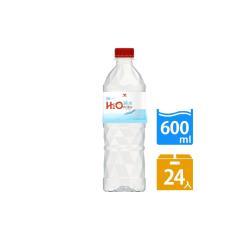 H2O water純水600mlx24入