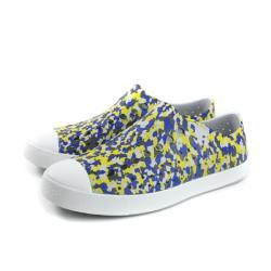 native JEFFERSON PRINT 懶人鞋 洞洞鞋 防水 灰底 藍黃 男女鞋 11100101-8688 no916