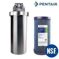 怡康 10吋大胖不鏽鋼吊架組+PENTAIR 標準10吋大胖纖維活性碳濾心