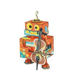 Robotime DIY木製音樂盒 - 小提琴家 AMD53