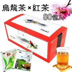 【龍源茶品】TAIWAN圖騰-烏龍茶包+紅茶茶包(4盒組-20包/盒-共80包/附提袋)