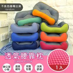 Abt-新世代雙色系超厚實服貼靠腰枕/腰靠墊/抱枕/紓壓枕/靠枕(隨機出貨-1入)