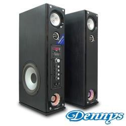 Dennys USB/SD藍牙多媒體落地型喇叭黑木色(CS-699)
