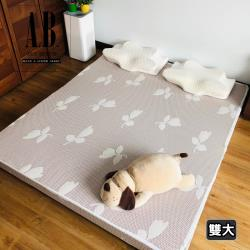 [AndyBedding]MIT天絲水洗床墊(優雅花朵)-雙人加大6尺
