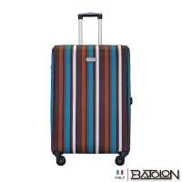 義大利BATOLON  28吋  繽紛條紋TSA鎖加大八輪防爆商務箱/ 行李箱