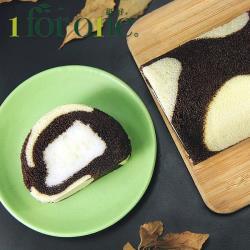 [1 for one]巧克力鮮奶凍捲(420g/條)(共2條)