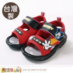 魔法Baby 男童鞋 台灣製迪士尼米奇正版嗶嗶涼鞋~sk0821