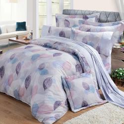 FITNESS 精梳棉加大七件式床罩組-日光(紫)