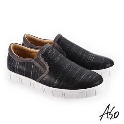 A.S.O 輕量抗震 個性百搭休閒鞋-黑