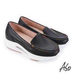 A.S.O 超能力氣墊系列 機能休閒鞋-黑