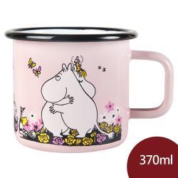 Muurla 嚕嚕米馬克杯 擁抱 粉紅 370ml