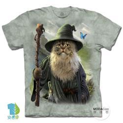 摩達客(預購)(4XL-5XL)美國進口The Mountain 貓道夫 純棉環保藝術中性短袖T恤