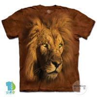 摩達客(預購)(3XL)美國進口The Mountain 萬獸獅王 純棉環保藝術中性短袖T恤
