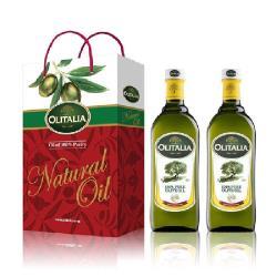 Olitalia奧利塔-橄欖油禮盒4組(1000ML/瓶;2瓶橄欖油/盒);共8瓶