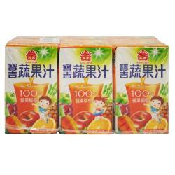 義美寶吉蔬果汁-蘋果柳橙125cc*6入