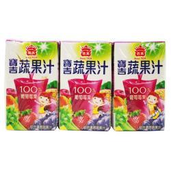 義美寶吉蔬果汁-葡萄莓果125cc*6入